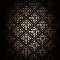 Fond noir et or décoratif vecteur