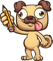 carlin avec un crayon
