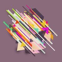 Design rétro abstrait vecteur