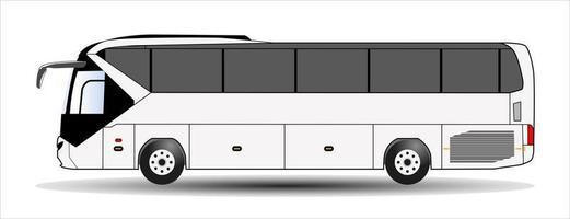 bus isolé sur fond blanc. vecteur. vecteur