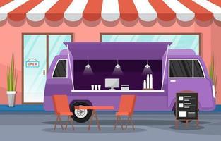camion de nourriture sur la rue de la ville