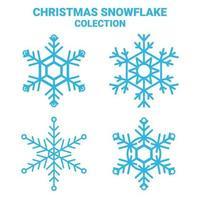 flocon de neige set vector, neige de Noël. vecteur