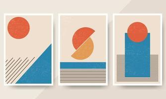 ensemble d'affiches de conception d'éléments de formes géométriques minimales des années 20 vecteur