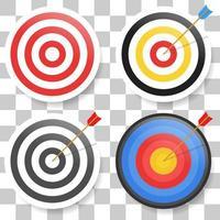 icône de jeu de cibles. signe de vecteur