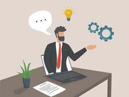 webinaire d'affaires. cours Internet et cours à distance. concept de conférence d & # 39; affaires en ligne vecteur