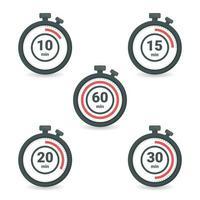 chronomètre avec un temps différent