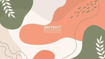 fond de conception tendance forme organique abstraite colorée vecteur