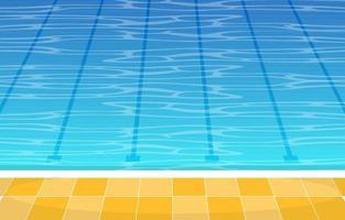 piscine avec ruelles vecteur