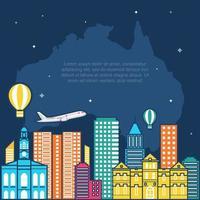 toits d'adélaïde australie sur globe, journée mondiale du tourisme vecteur