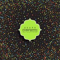 Fond de confettis étoiles vecteur