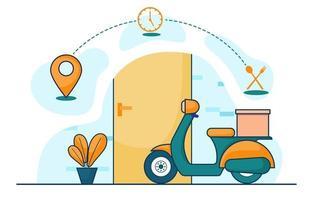 scooter pour service de livraison express