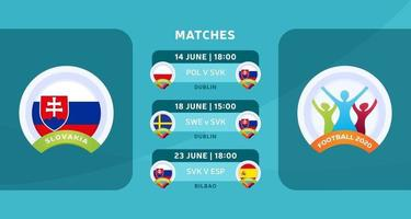 matchs par équipe de Slovaquie vecteur