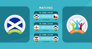 matchs de football d'Ecosse 2020 vecteur