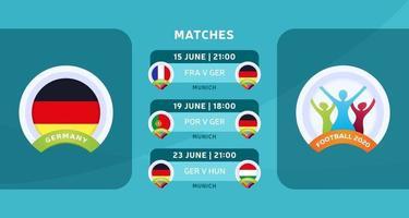 allemagne matches nationaux football 2020 vecteur