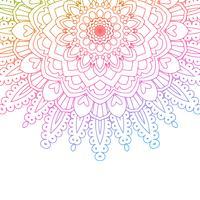 Fond de mandala couleur arc-en-ciel vecteur