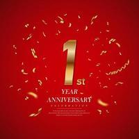 conception de célébration d'anniversaire de première année vecteur