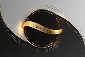 fond noir luxueux avec une combinaison d'or brillant dans un style 3d. élément de conception graphique. décoration élégante. eps 10 vecteur