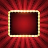Fond abstrait de starburst avec cadre de néon