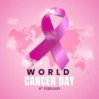 4 février conception de fond de vecteur pour la journée mondiale du cancer