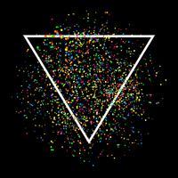 Abstrait confetti vecteur