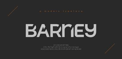 polices de l'alphabet moderne sport abstrait. typographie technologie sport électronique jeu numérique musique future police créative. illustration vectorielle