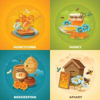 concept de design de miel vecteur