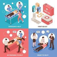 concept de conception de premiers secours isométrique