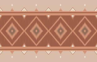 Abstrait horizontal ethnique oriental motif ikat design traditionnel vecteur