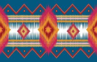 Abstrait horizontal ethnique oriental motif ikat traditionnel vecteur