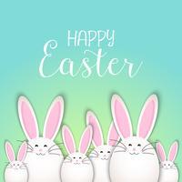 Fond de lapin de Pâques mignon