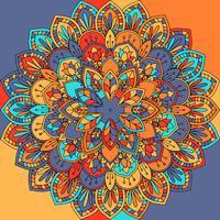 Dessin abstrait de mandala vecteur