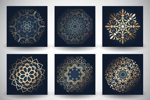 Arrière-plans décoratifs de style mandala vecteur