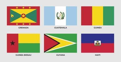drapeau de la grenade, guatemala, guinée, guinée bissau, guyane, haïti, vecteur