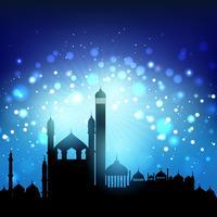 Silhouette de mosquées vecteur