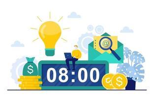 hommes d & # 39; affaires travaillant sur la gestion du temps et la stratégie d & # 39; entreprise