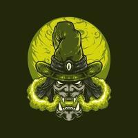 illustration vectorielle de sorcière halloween