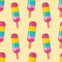 illustration de modèle sans couture de bâton de crème glacée vecteur