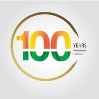 anniversaire d'or. conception de modèle d'anniversaire pour le web, jeu, affiche créative, livret, dépliant, magazine, carte d'invitation - vecteur