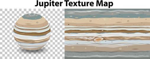 Planète Jupiter sur transparent avec carte de texture Jupiter