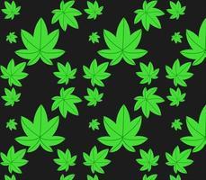 la conception de vecteur de motif de cannabis est idéale pour l'emballage de cadeaux, les documents imprimés