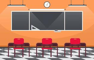 salle de classe vide dans l & # 39; illustration du lycée
