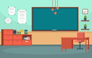 salle de classe vide dans l & # 39; illustration du lycée vecteur