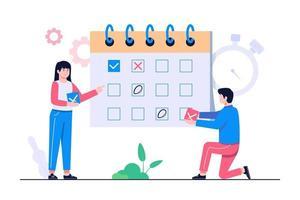 illustration de concept de gestion des horaires