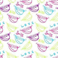 illustration vectorielle de lèvres colorées transparente motif