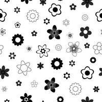 Belles fleurs monochrome vector pattern design fond d'écran sans couture pour tissu, impressions papier
