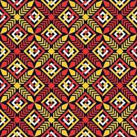 conception traditionnelle de motif ethnique géométrique pour le fond, tapis, papier peint, vêtements, emballage, batik, tissu, sarong vecteur