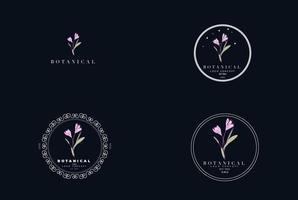 création de logo abstrait organique floral botanique moderne minimal féminin vecteur