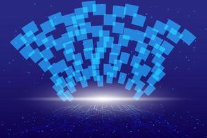 fond de technologie abstraite haute technologie de communication fond numérique