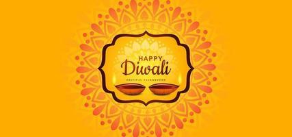 illustration de la gravure de diya sur fond de vacances joyeuses diwali
