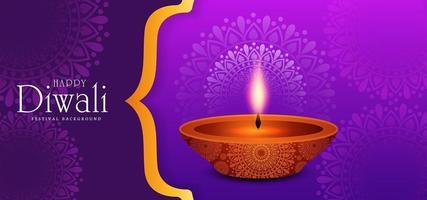 fond de carte de voeux joyeux diwali célébration
